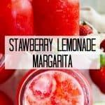 Pinterest graphic for strawberry lemonade