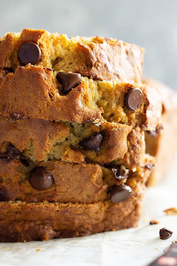 This Easy Banana Bread is a treasured family favorite! It's the BEST banana bread and it's perfect with additions like chocolate chips! #easyrecipe #bananabread #quickbread