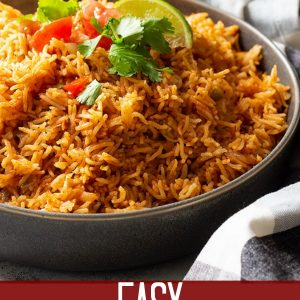 Easy Spanish Rice is the perfect side dish for all you Mexican inspired meals! Instant pot and stove top instructions included! #spanishrice #mexicanrice
