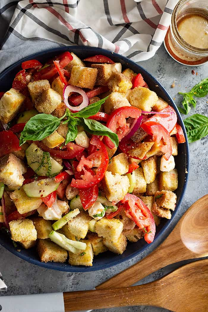 Panzanella Salad with Mozzarella