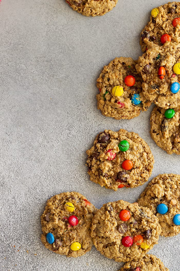 Top down view of cookies.