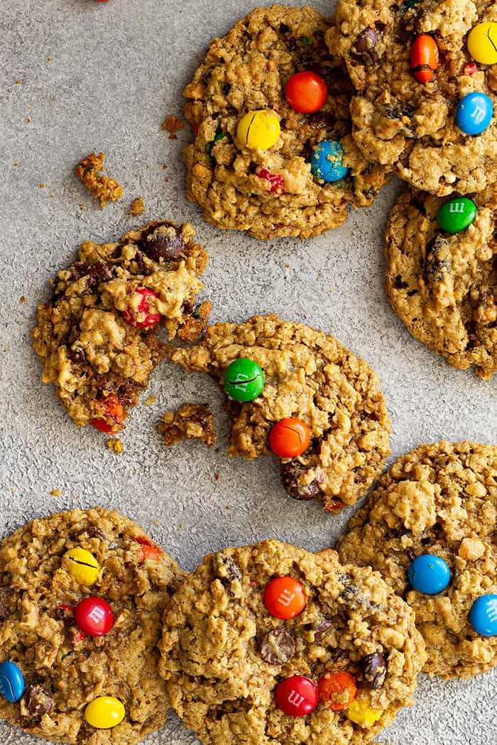 Close up of Monster Cookies.
