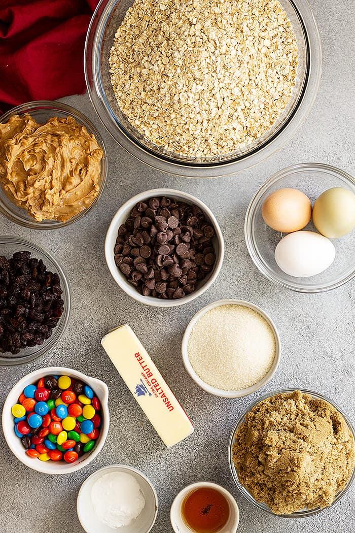 Ingredients for cookies.
