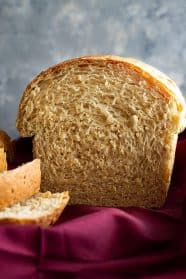 Bread sliced to show the interior of the bread.