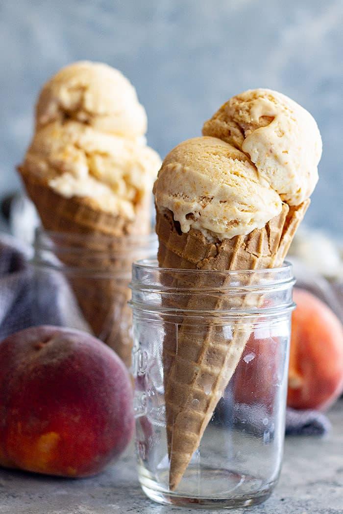 Ice cream cones.