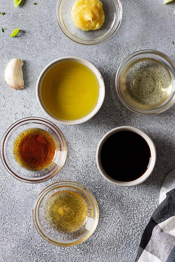 ingredients to make asian dressing