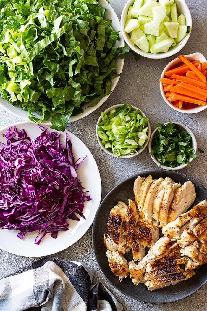 Ingredients to make an epic salad!
