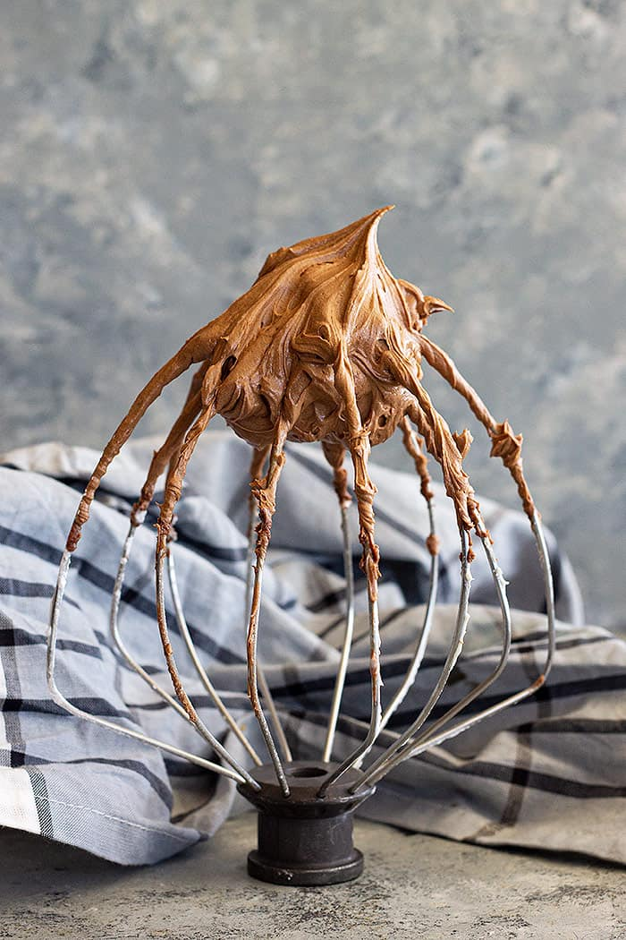 frosting on a wire whisk