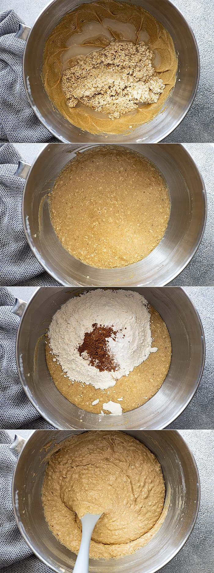 The finishing pictures on how to make the cake.